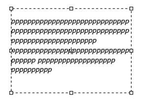 Ограничивающая рамка для ввода текста