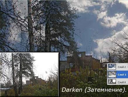 режим Darken (Затемнение)