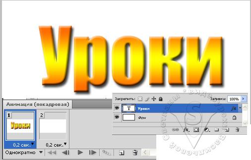 покадровая анимация текста