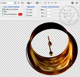поперечное сечение в PhotoShop CS3