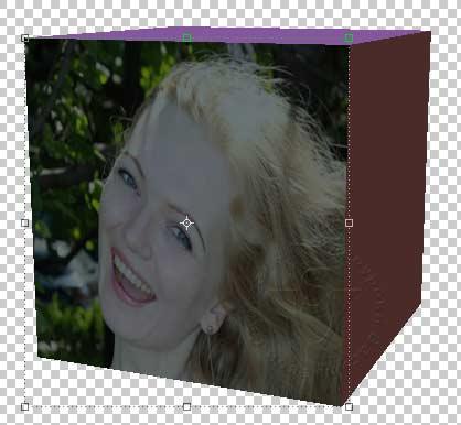 фото на грани куба