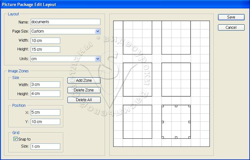 Picture Package Edit Layout (Изменить макет пакета изображений)