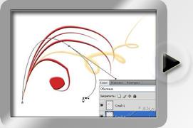 рисование инструментом Pen (Перо)