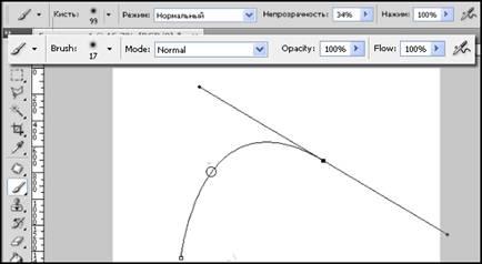 панель параметров инструмента Brash (Кисть)