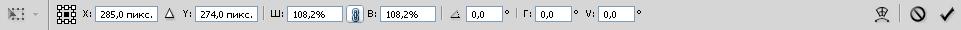 панель параметров числового ввода